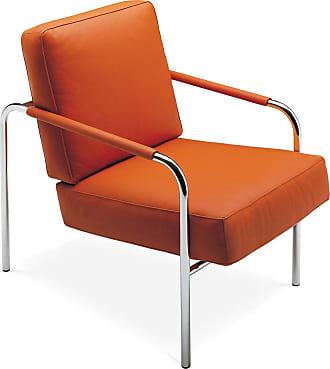 ZANOTTA Design Susanna Armchair Dark Orange Leather
