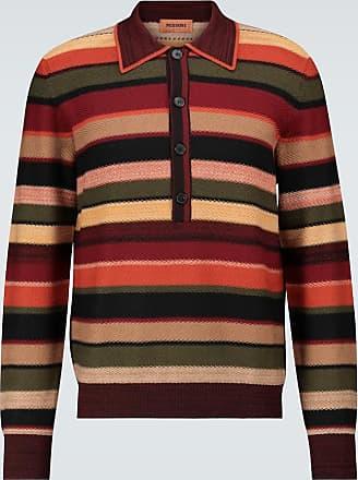 Missoni Striped long-sleeved polo shirt