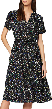 Yumi Black Ditsy Floral Tiered Tunic