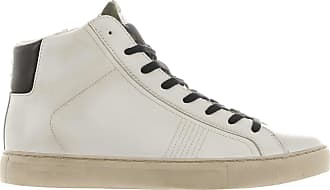 Crime London Sneaker high top essential in pelle bianco 40