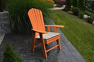 A & L Furniture A & L Furniture 882-O Orange Poly Upright Adirondack Chair