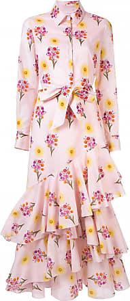 Borgo De Nor Chemise floral com babados - Rosa