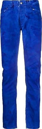Frankie Morello Calça jeans slim com efeito destroyed - Azul