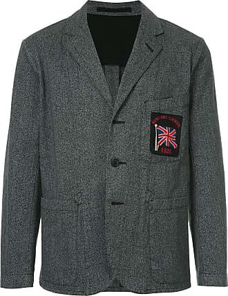 Kent & Curwen flag patch blazer - Grey