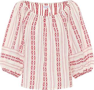 Velvet Vivette striped cotton blouse