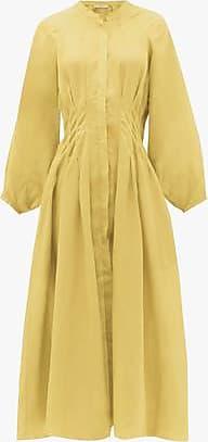 Three Graces London Valeraine Dress in Cornflower Yellow