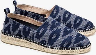 agnès b. navy blue Ikat pattern espadrilles