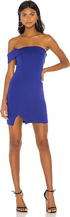 Superdown Hana One Shoulder Dress in Blue