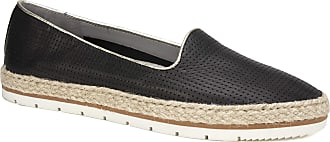 White Mountain Womens Becca Loafer Flat, Black/Leather, 5.5 UK