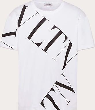 Valentino Valentino Uomo T-shirt With Vltn Macrogrid Man White/ Black Cotton 100% XS