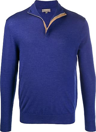 N.Peal cable knit zipped jumper - Blue