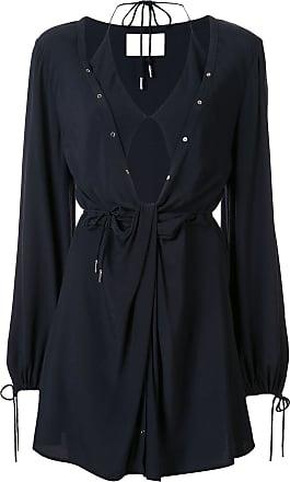 Dion Lee twist placket tunic dress - Blue