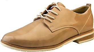 Footwear Studio Womens Marco Tozzi Nude Faux Leather Lace Up Summer Brogue Shoes UK 8