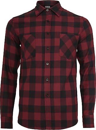 Urban Classics Checked Flanell Shirt - Flanellhemd - schwarz, burgund