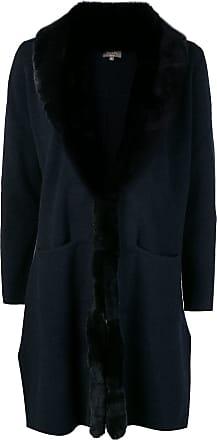 N.Peal fur collar Milano coat - Blue
