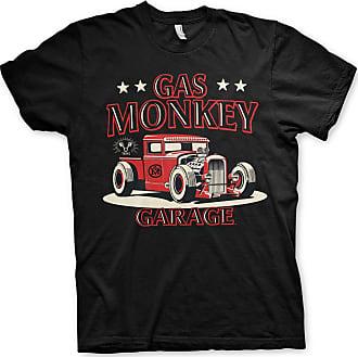 Gas Monkey Garage Officially Licensed Texas Rod T-Shirt (Black), XXL