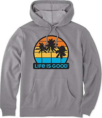 Life is good Mens Get Away Palms Simply True Hoodie XXL Dark Heather Grey