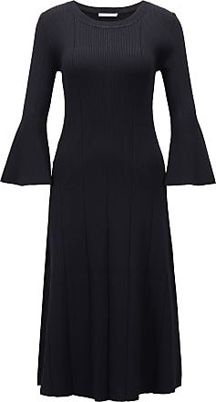 BOSS Slim-fit dress with ribbed structure and flared sleeves