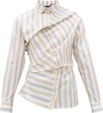 Y / Project Twisted Slim-fit Poplin Shirt - Mens - Grey