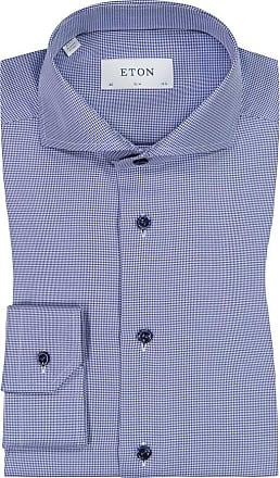 Eton Oberhemd mit Muster, Slim Fit von Eton in Marine für Herren