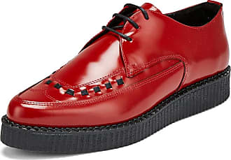 Undercover Womens Roxy Single Sole Creeper Shoes Cherry Red UK 5/EU 38