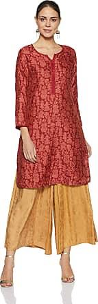 Biba Womens Straight Kurta (Jaipur C14189_Maroon_34)