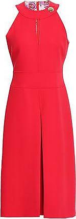 Emilio Pucci Emilio Pucci Woman Cutout Pleated Woven Dress Tomato Red Size 46