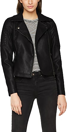 Noisy May Womens Nmrebel L/s Pu Jacket-Noos, Black, 32R (Size: X-Large)