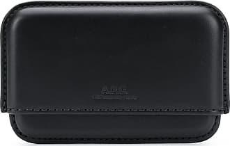A.P.C. Porta-cartões com logo gravado - Preto