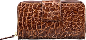 Maxwell Scott Maxwell Scott - Luxury Choc Faux Croc Leather Purse