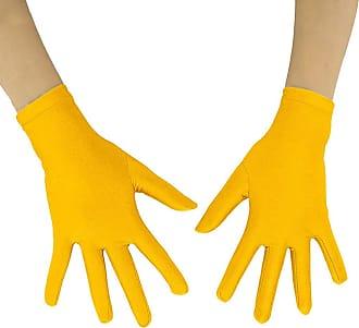Insun Adult Lycra Spandex Full Finger Stretchy Short Gloves yellow