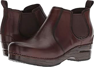 078ba5bee3fb Dansko Womens Frankie Ankle Boot Brown Burnished Full Grain 40 M EU (9.5-10