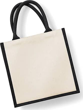 Westford Mill W421=Westford Mill Printers Midi Jute Bag Colour=Black Size=O/S