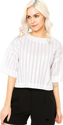 Finery Blusa Finery London Canvey Striped Top Branca