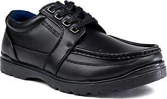 US Brass Hawk Black Lace Up Office Work Formal Mens Shoes