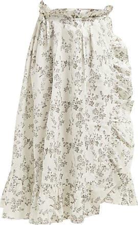 Thierry Colson Tasha Floral-print Cotton Wrap Skirt - Womens - Black Multi