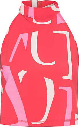 Shoulder Regata Malha Letras - Vermelho