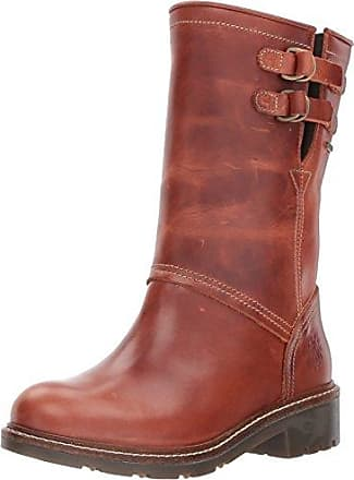 FLY London Womens SASI052FLY Mid Calf Boot, Brick, 41 M EU (10-10.5 US)