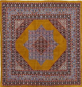 Nain Trading 220x208 Tappeto Persiano Moud Quadrato Ruggine/Viola (Annodato a mano, Persia/Iran, Lana)
