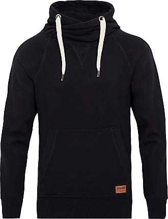 Yazubi Mens Hoody Hooded Small Sweatshirt Leo Soft Hoodie Sports Work Jumper Shirt Tops Dark Jet Matte, Black (Black 194008), S