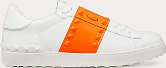 Valentino Garavani Valentino Garavani Uomo Sneaker Rockstud Untitled In Vitello Fluo Uomo Bianco/orange Fluo 100% Pelle Di Vitello - Bos Taurus 42.5