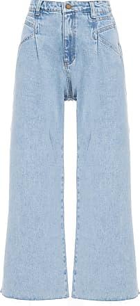 Cantão Calça Jeans Pantacourt - Azul