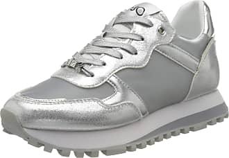 Liu Jo Womens Liu Jo Wonder 2.0 Low-Top Sneakers, Silver (Silver 00532), 8 UK