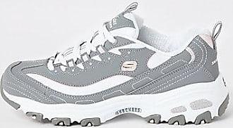 Skechers Womens Skechers grey Biggest Fan sneakers