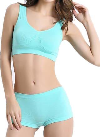 Abetteric Sutiã Abetteric feminino confortável elástico liso colete médio sutiã ajustável, Azul, XX-Large