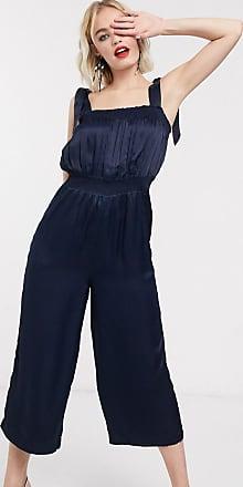 Whistles Ally tie shoulder jumpsuit-Blue