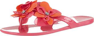 Nine West Womens NWMEOLI3 Flip Flops, Multicolour (Electric Fuschia/Tropic Orange/Electric CU), 8 UK
