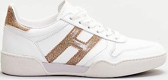Hogan sneaker scamosciata dettagli bronzo - bianco