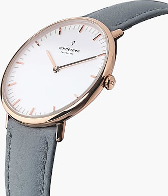 Nordgreen Native - Rose Gold | Grey Leather - 36mm / Rose Gold