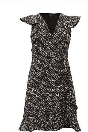 Giambattista Valli Ruffled Bouclé Mini Dress - Womens - Black Multi